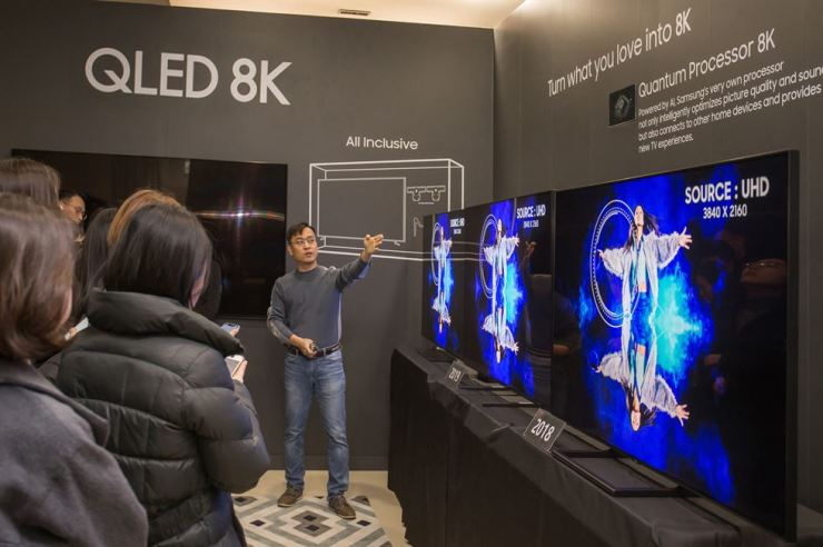 Samsung's new lineup will have an image resolution four times more vivid than its 4K counterparts. Courtesy of Samsung Electronics
