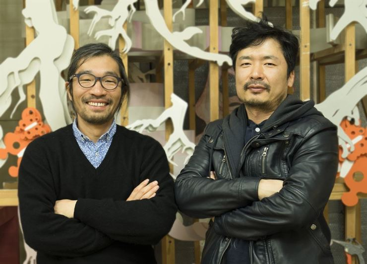 Two artists participating Das Dritte Land: Han Seok-hyun and Kim Seung-hwoe Courtesy of Next City Berlin / Courtesy of the artists