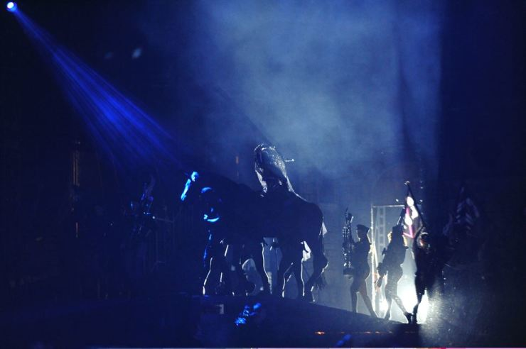 Lady Gaga performs in Seoul in 2012. Korea Times file