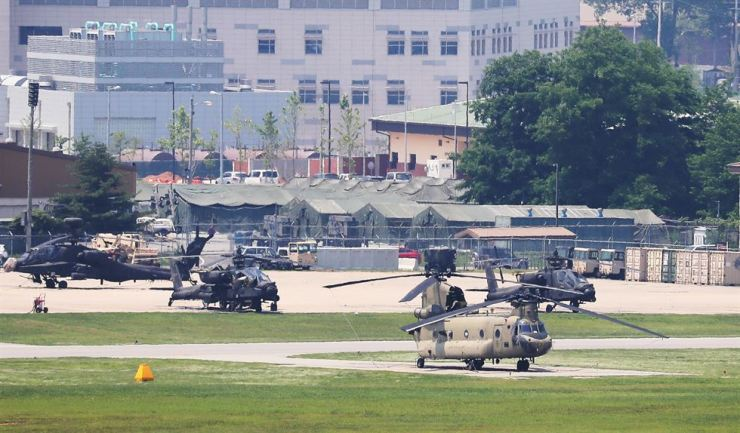 United States Force Korea's Camp Humphreys in Pyeongtaek, Gyeonggi Province. Yonhap