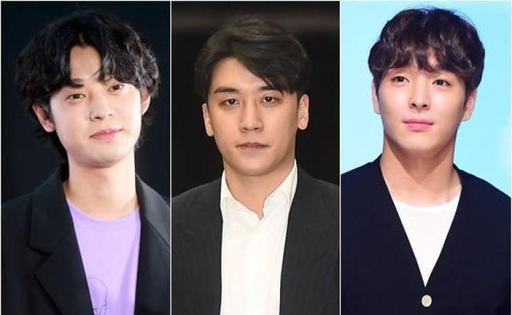 From left, Jung Joon-young, Seungri, Choi Jong-hoon
