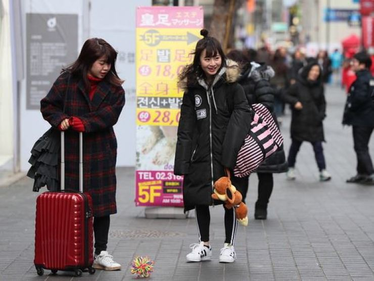 The number of Japanese visitors to Korea has increased over the past three months. Yonhap