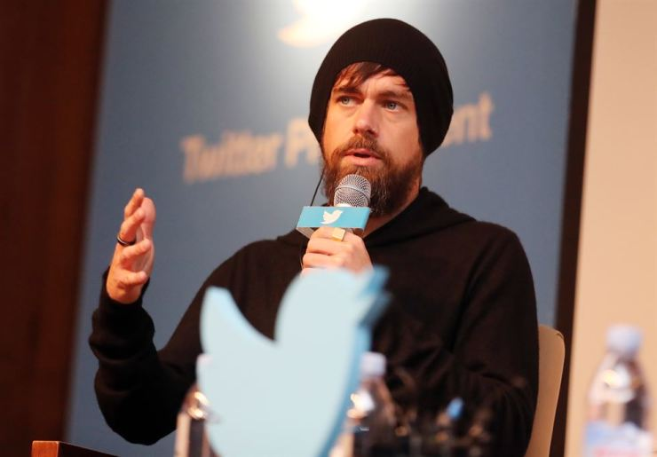 Twitter CEO Jack Dorsey speaks during a press conference at the Shilla Hotel in Seoul, Friday. / Yonhap