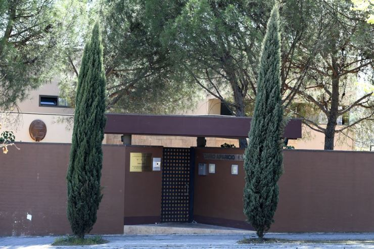 An outside view of the Embassy of North Korea building in Madrid, Spain, March 27. The Cheollima Civil Defense organization committed to overthrowing North Korea's leader Kim Jong-un has claimed it was behind a raid at Pyongyang's embassy in Spain back on Feb. 22. EPA