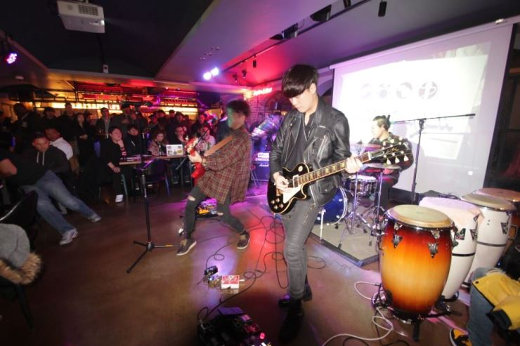Batu band, winner of season 3 of the Battle of the Bands, performs at View 33 Itaewon. / Courtesy of Kyutae Kim of vancity604