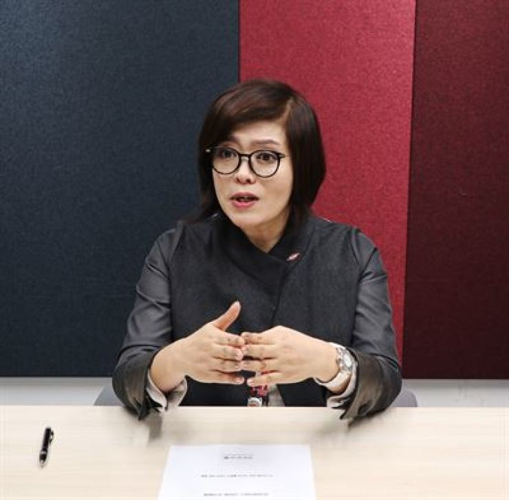 Dow Chemical Korea Commercial Director Min Sun-hee speaks during an interview with The Korea Times at the company's office in Gangnam-gu, Seoul. Courtesy of Dow Chemical Korea