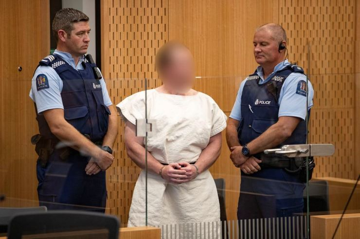 Brenton Tarrant is seen in the dock during his appearance in the Christchurch District Court, New Zealand, March 16, where he was charged with murder in relation to attacks on two mosques. Reuters