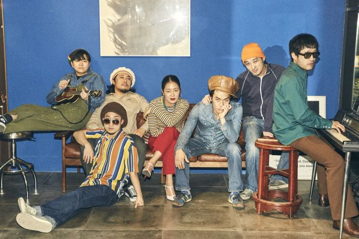 Pansori singer Kim Yul-hee, center, and Korean reggae band NST & the Soul Sauce. / Courtesy of Eastern Standard Sound