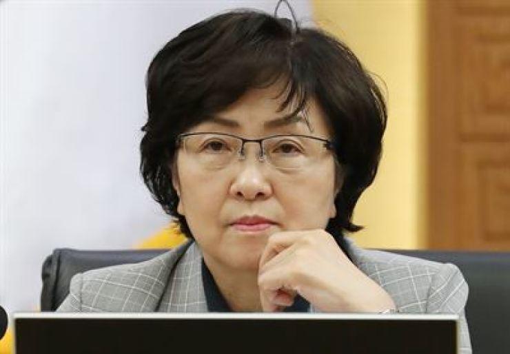 Ex-Environment Minister Kim Eun-kyung