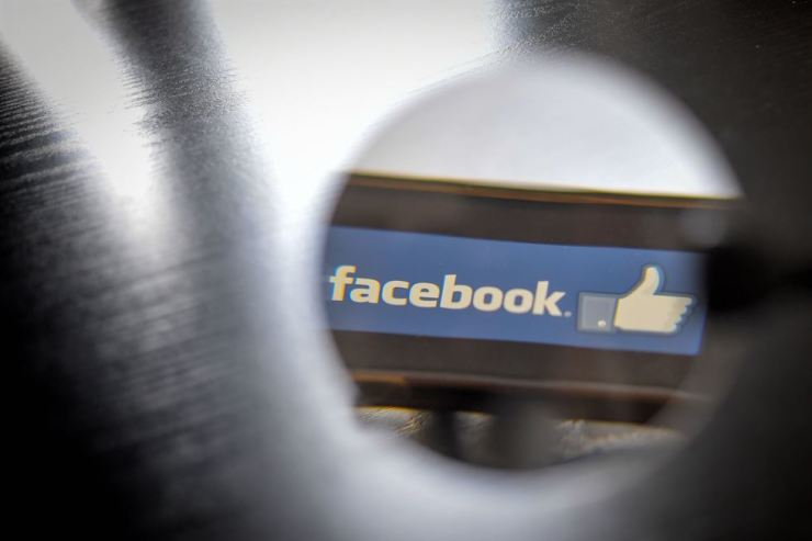 In this file photo taken on Jan. 15, 2019, the logo of social network Facebook is displayed on a smartphone in Nantes, western France. AFP-Yonhap