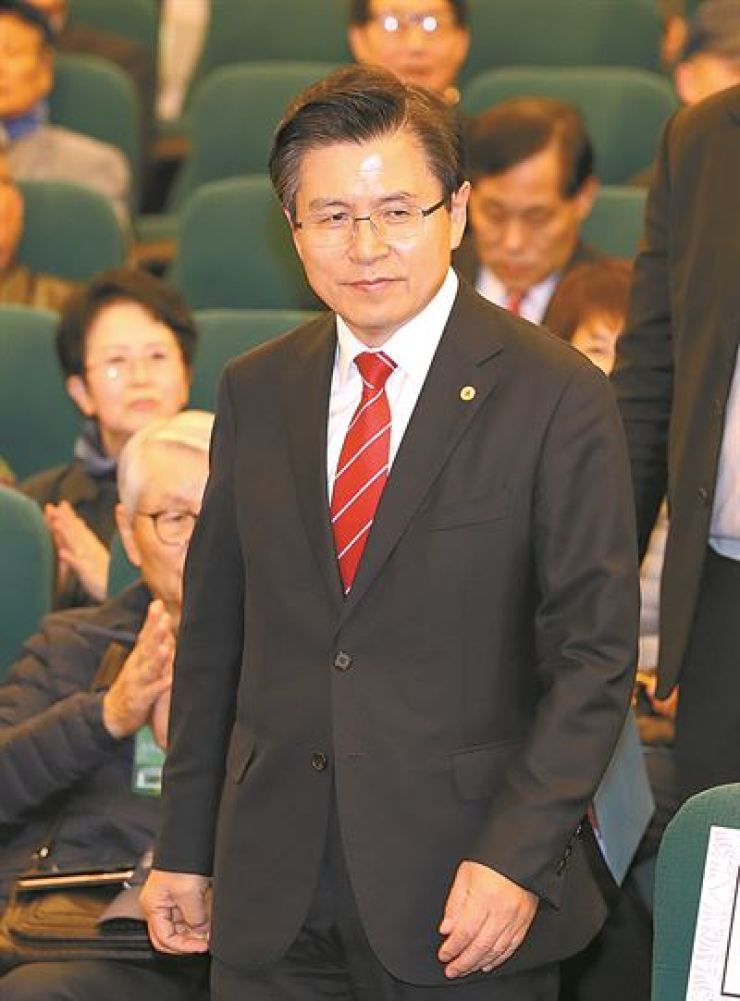 Hwang Kyo-ahn, chief of the main opposition Liberty Korea Party