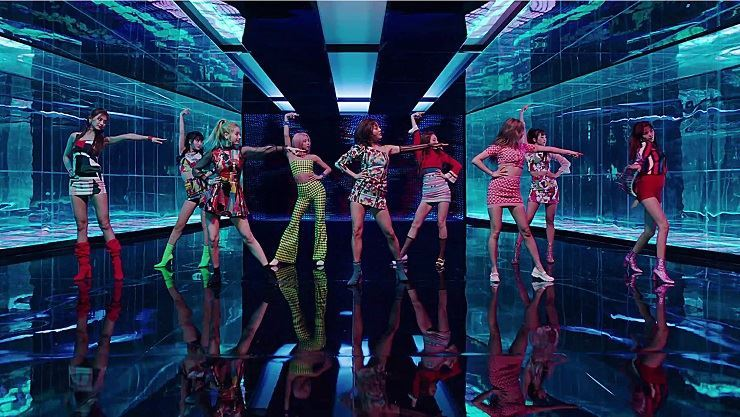 TWICE in its new music video 'FANCY'/ Courtesy of JYP Entertainment