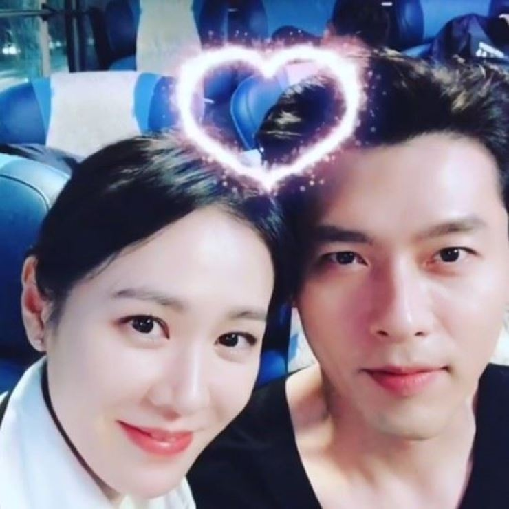 Son Ye-jin and Hyun Bin co-starred in the movie 'The Negotiation' in 2018. Capture from Son Ye-jin's Instagram