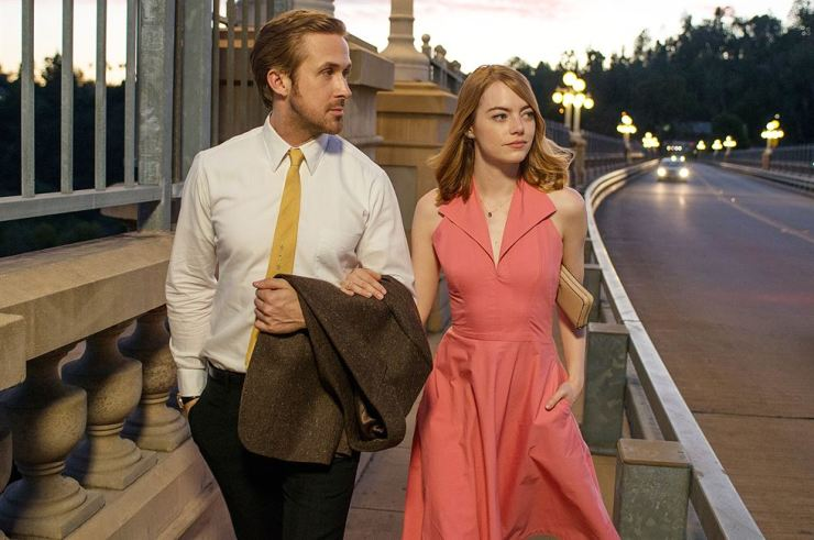 Emma Stone and Ryan Gosling in a scene from 'La La Land' (2016).