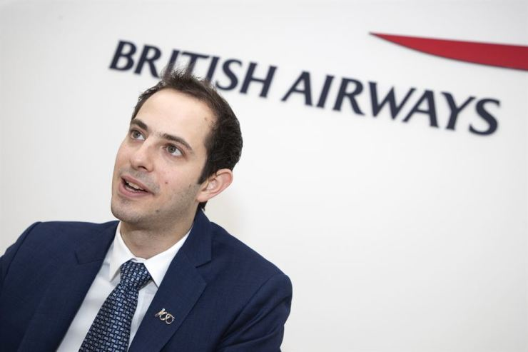 Moran Birger, British Airways' acting head of sales for Asia Pacific and the Middle East, speaks about the major investments and changes to come during an interview with The Korea Times in the airline's office in Seoul, April 5. / Korea Times photo by Choi Won-suk