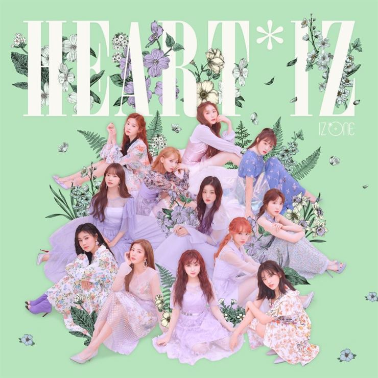 Korean-Japanese project team IZ*ONE has sold more than 132,100 copies of its album 'HEART*IZ'. Courtesy of Off The Record Entertainment