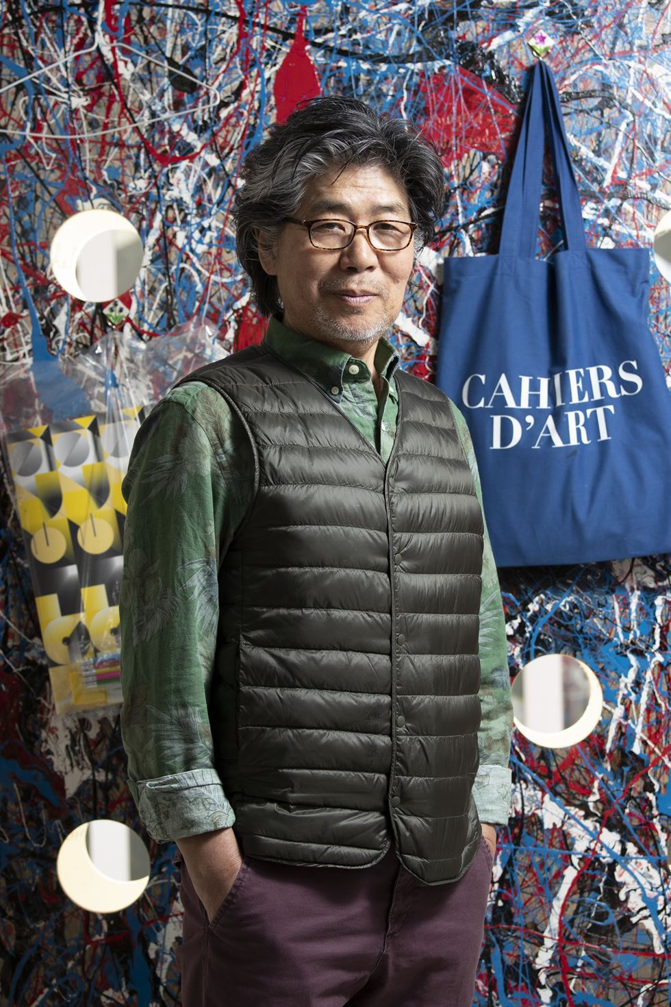 Artist Kim Yong-ik poses for a photo in front of his studio in Yangpyeong, Gyeonggi Province, Thursday. Kim will hold solo exhibitions at Berlin's Galerie Barbara Wien from April 27 and New York's Tina Kim Gallery from May 3. Korea Times photo by Choi Won-suk