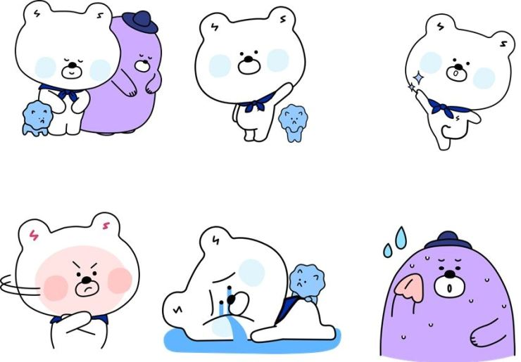 Shinhan Bank's SOL characters / Courtesy of Shinhan Bank