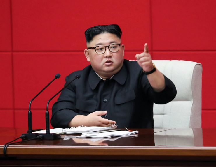 In this April 10 photo provided by the North Korean government, North Korean leader Kim Jong-un attends the 4th Plenary Meeting of the 7th Central Committee of the Workers' Party of Korea in Pyongyang, North Korae. AP