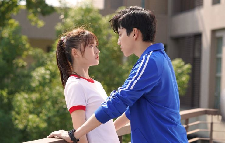 Taiwanese heartthrob Darren Wang, right, is seen in the film 'Fall in Love at First Kiss.' /Courtesy of AUD