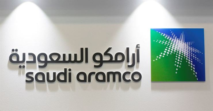 Logo of Saudi Aramco is seen at the 20th Middle East Oil & Gas Show and Conference (MOES 2017) in Manama, Bahrain, March 7, 2017. / Reuters-Yonhap