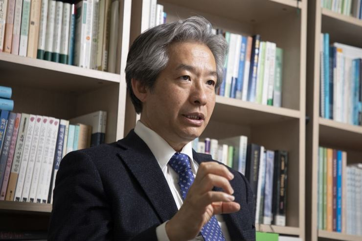 Psychiatry professor Jeon Woo-taek at Yonsei University, who is also the director of the Health and Unification Center, speaks during an interview with The Korea Times at his office in Seoul, April 1. / Korea Times Photo by Choi Won-suk