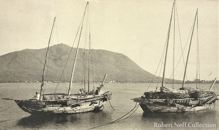 Korean boats, circa 1900-1920s.