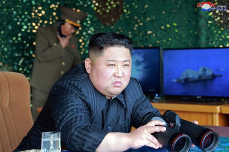 In this May 4 file photo, North Korean leader Kim Jong-un, observes tests of different weapons systems in North Korea. North Korea's test of what appears to be new short-range ballistic missile may not have been a direct threat to the United States, but experts warn it almost certainly an omen of bigger problems on the horizon. AP
