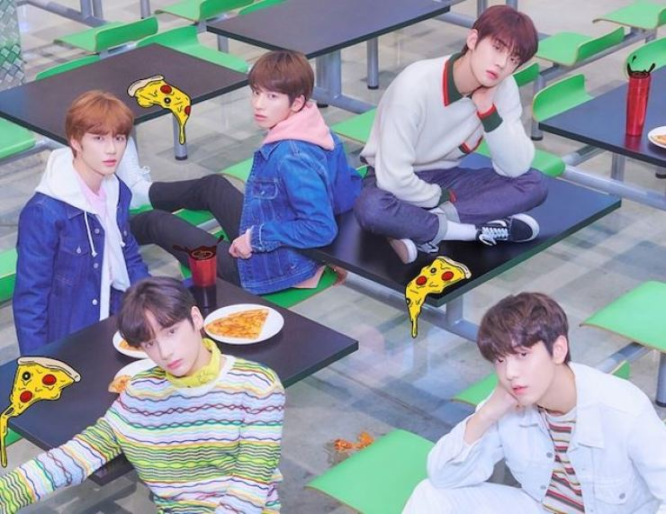 Boy band Tomorrow X Together ranked second Tuesday on the Billboard Social 50, which measures artists' popularity on social media. Courtesy of Big Hit Entertainment