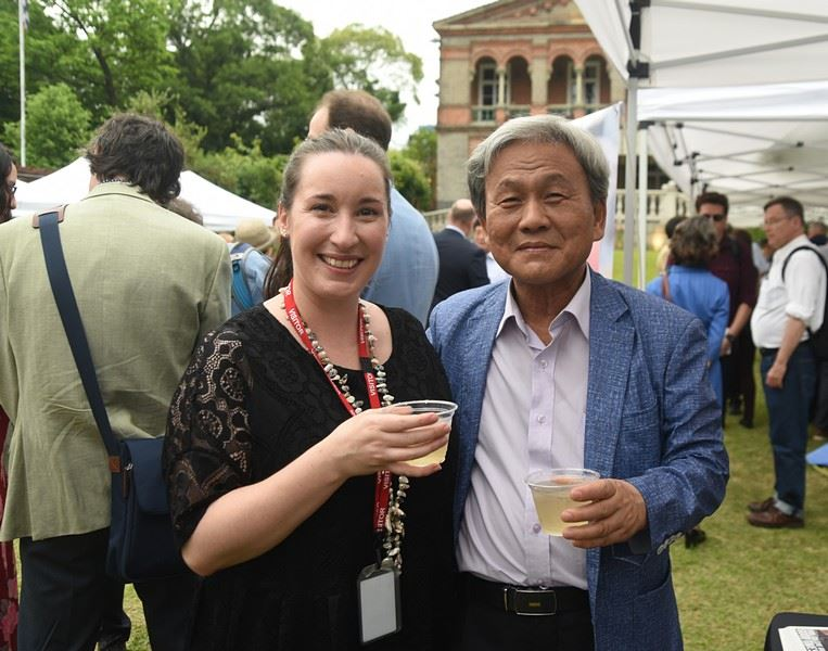 The Royal Asiatic Society Korea Branch (RASKB) Garden Party is held at Habib House, the U.S. Ambassador's residence in Jeong-dong, central Seoul, in June 2015. / Korea Times photo by Jon Dunbar