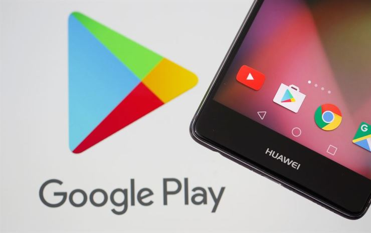 A Huawei smartphone is seen in front of displayed Google Play logo in this illustration taken May 20. Reuters