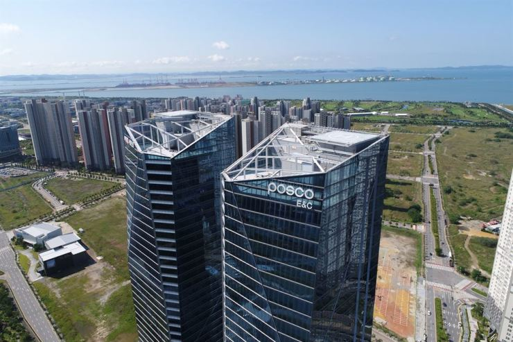 POSCO E&C office in Songdo, Incheon / Korea Times file