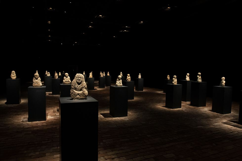 Installation view of 'Arhats of Daily Introspection' at the National Museum of Korea in Yongsan, Seoul / Courtesy of National Museum of Korea