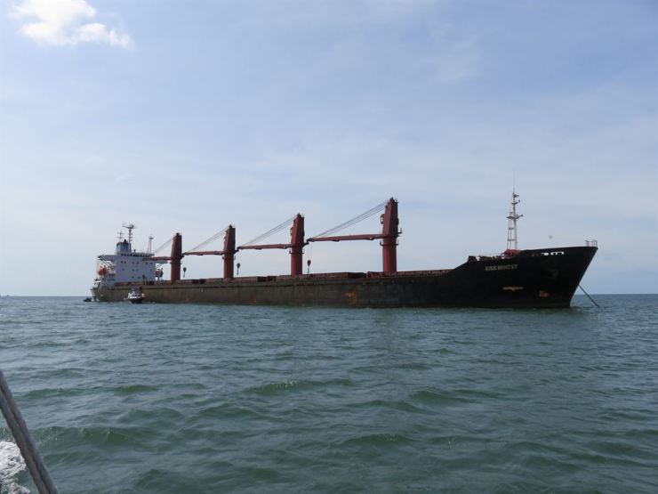An undated image provided in a U.S. Department of Justice complaint for forfeiture released May 9 shows the North Korean vessel Wise Honest. Reuters