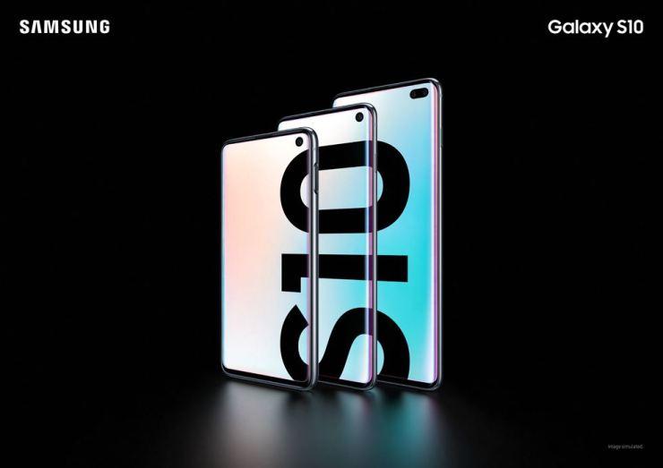 Samsung Electronics' Galaxy S10 smartphones / Courtesy of Samsung Electronics