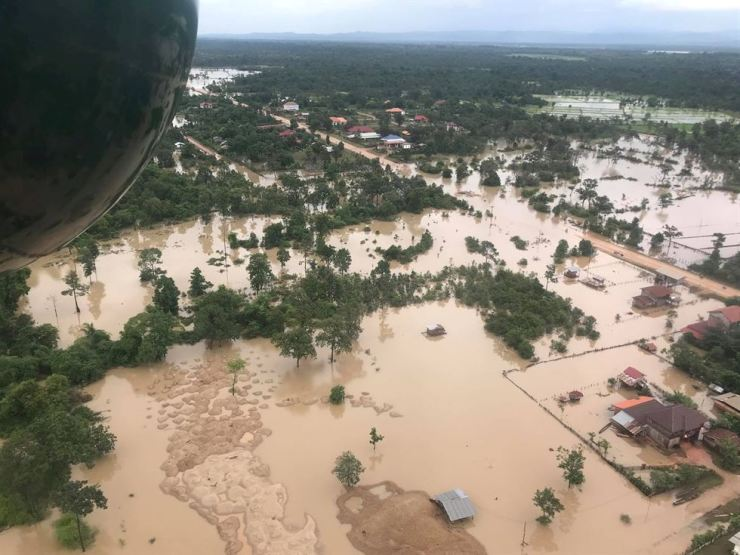 Dam failure in the district of southeastern Laos, in this July 24, 2018 file photo. Reuters-Yonhap