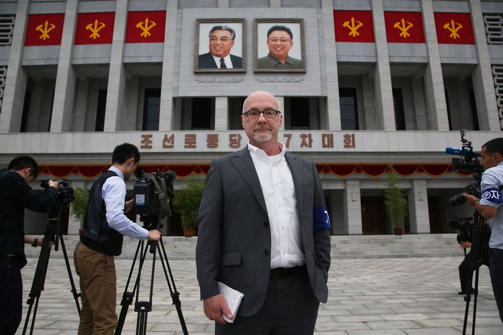 This photo from Dec. 1, 2015, shows The Associated Press' North Korea Bureau Chief Eric Talmadge in Pyongyang, North Korea. AP-Yonhap