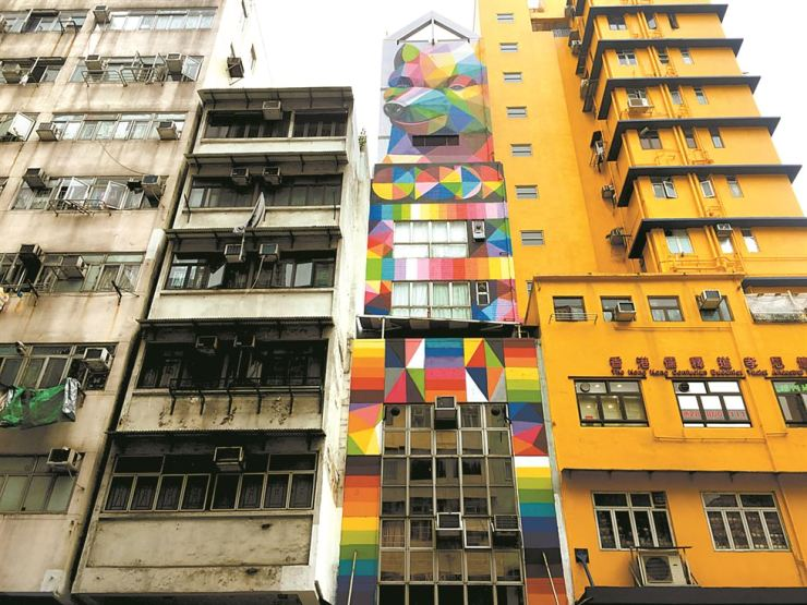 Old Town Central in Hong Kong is a tourism hotspot thanks to its various street art. / Courtesy of Hong Kong Tourism Board