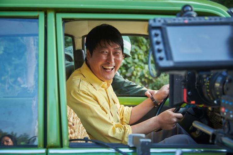 Actor Song Kang-ho while filming 'A Taxi Driver' (2017). Korea Times file