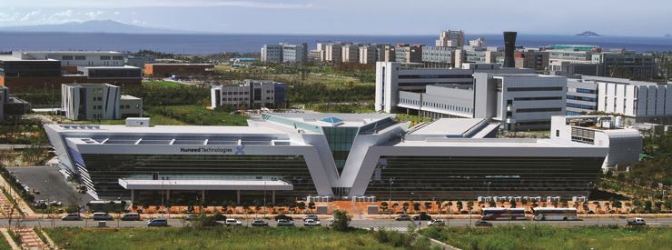 Huneed Technologies' headquarters in Incheon. Courtesy of Huneed Technologies