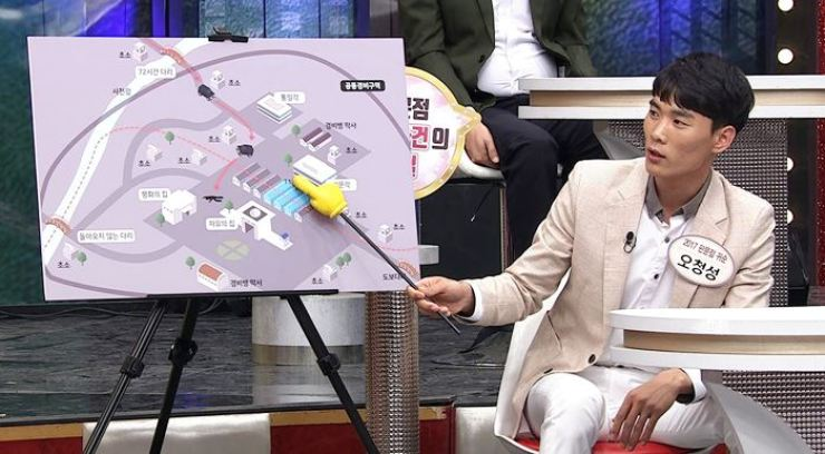 North Korean defector Oh Chong-song explains how he escaped to South Korea on cable network TV Chosun's talk show 'Moranbong club,' which will be aired on Sunday night. Courtesy of TV Chosun