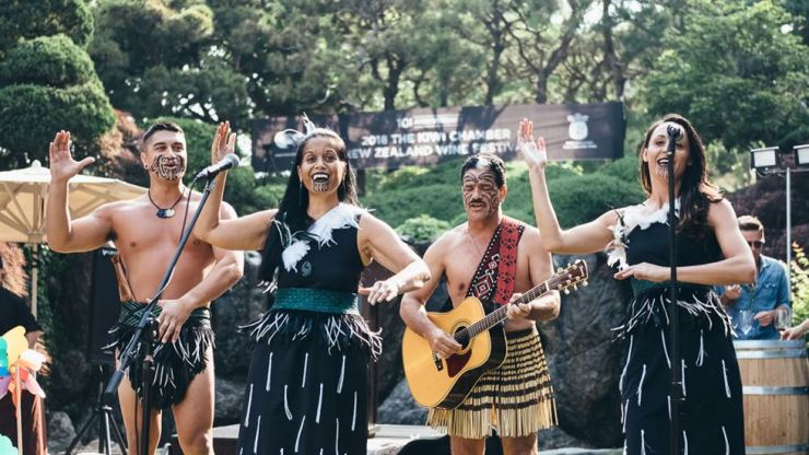 Maori performers at the New Zealand Chamber of Commerce in Korea (Kiwi Chamber) wine festival last year in Seoul / Courtesy of Kiwi Chamber