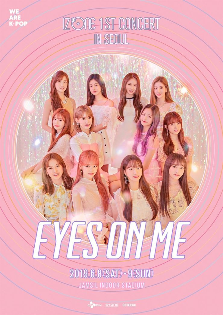Korean-Japanese project K-pop band IZ*ONE's solo concerts are on June 8-9 at Jamsil Indoor Stadium, Seoul. Courtesy of Off The Record Entertainment