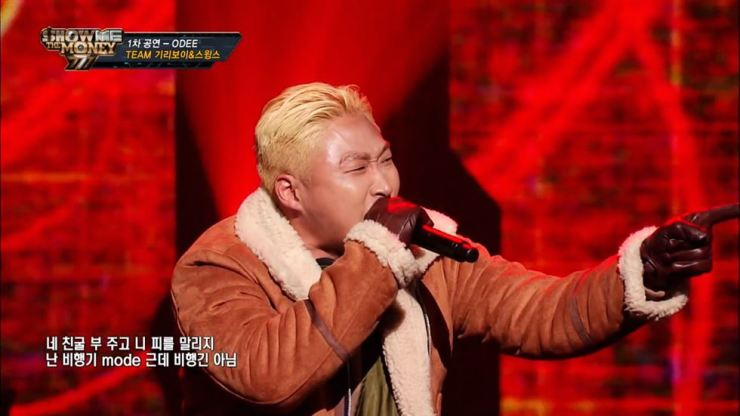 Swings performs in 'Show Me the Money' on Mnet. Screen capture from YouTube