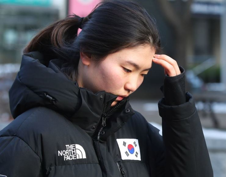 Shim Suk-hee continues training despite her ordeals. Shim was beaten and allegedly raped by her coach. Other athletes have reported abuse from coaches that included beatings, deprivation, sexual abuse and threats to end their careers if they made reports. Yonhap