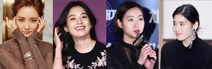 From left are actresses Go Joon-hee, Han Hyo-joo, Gim Go-eun and Jung Eun-chae. Korea Times file