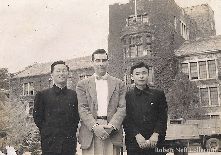 The faculty at Yonhee University, circa 1956.