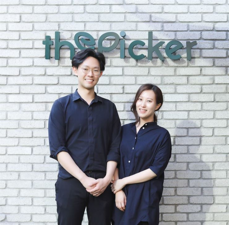 Co-founders of The Picker Song Kyoung-ho, left, and Hong Ji-seon pose for a photo. Courtesy of Jaemin Shin