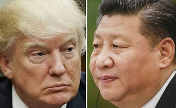 Donald Trump and Xi Jinping. 'Everything depends on the Americans, whether they pursue dialogue and negotiations or offense, restraint and containment or other action. Whatever the U.S. chooses, China is ready to address what the future holds.' Yonhap