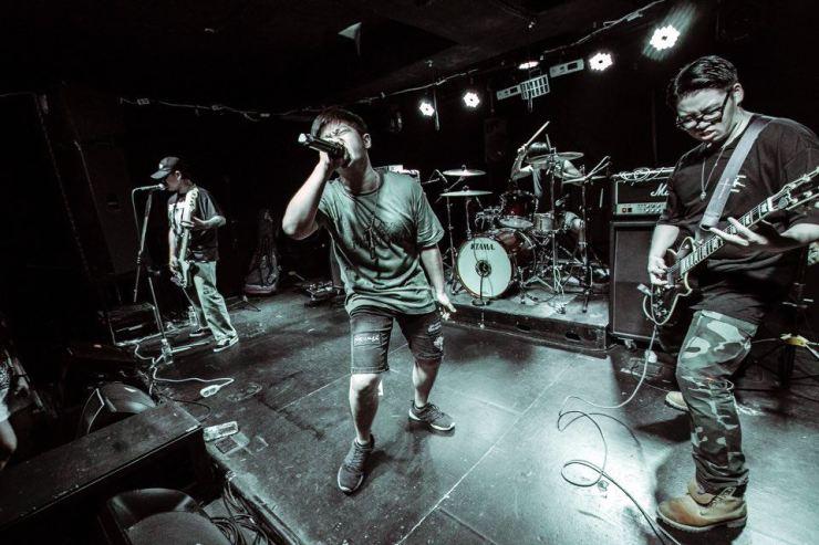 The Korean hardcore punk band No Shelter / Courtesy of On Choi